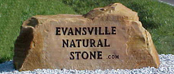 Evansville natural stone welcome for Landscaping rock evansville in